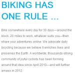 30 Days of Biking April 2013: Final Report
