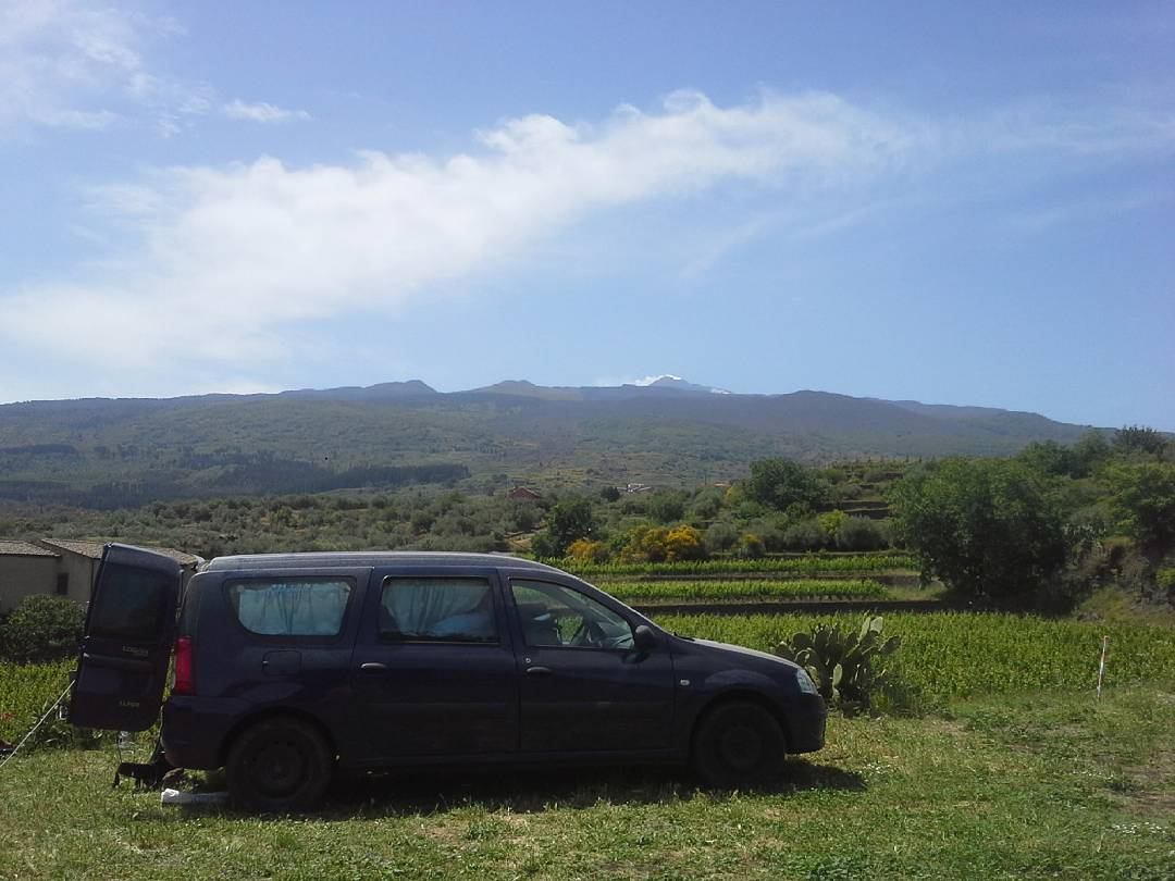 Good morning Etna! Tonight we slept with the red glowhellip