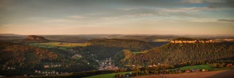 Panorama über Pfaffenstein und Königstein
