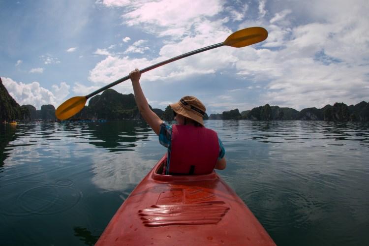 Kanutrip in der Lan Ha Bucht