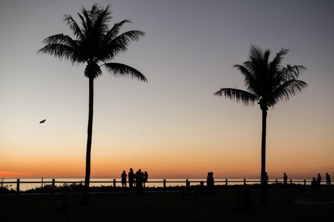 Sonnenuntergang am berühmten Cable Beach