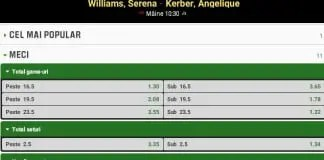 Pronosticuri Serena Williams Angelique Kerber