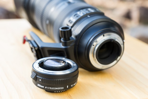 A teleconverter attaches to both the lens and the camera as an intermediary lens within a photographic optical system. The TC-14E III is an f-mount design that is compatible with all Nikon film cameras and DSLR cameras. Nikon teleconverters are generally compatible with longer focal length telephoto and telephoto zoom lenses. (Bill Ferris)