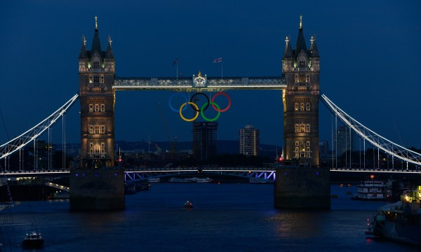 Tower Bridge with rings