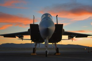 F15 Strike Eagle on the ramp