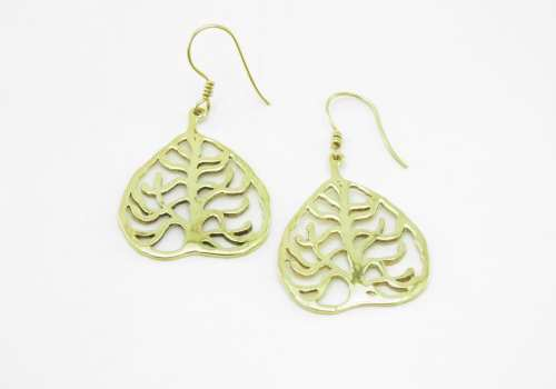 Earrings Recycled Brass – Buddha Tree