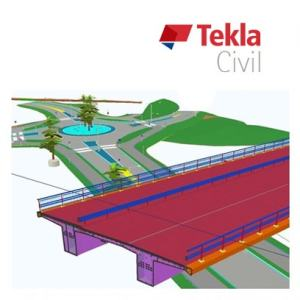 Tekla Civil product logo, bim solutions