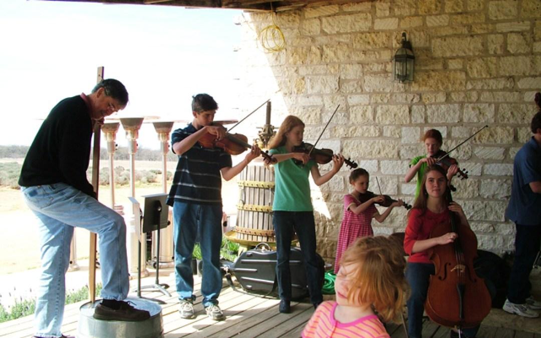 Playing music at Becker Vineyards