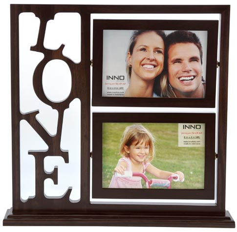Bingkai Frame Bingkai foto Povot Love Vertical 6 4 Brown Double Frame 03572 485x474