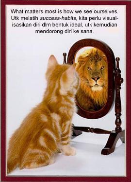 Cat sees lion