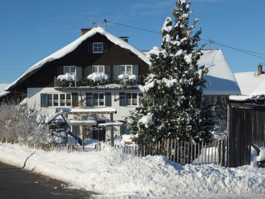Bauerhof im Winter