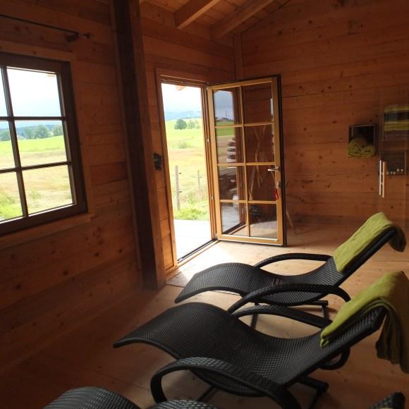 Sauna mit Relaxliegen
