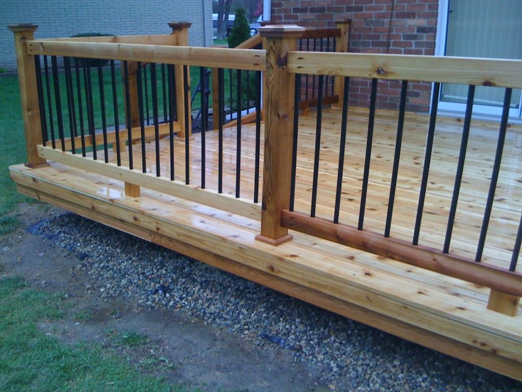 Fullsize Of Metal Deck Railing