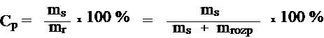 wzorek na Cp Stężenie procentowe roztworu