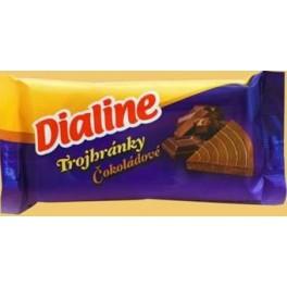 Oblátky Dialine trojhránky čokoládové 50g
