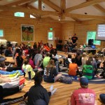 Youth group gathering in Upper Fireweed Hall
