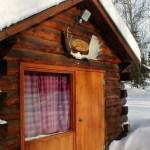 Sourdough Cabin in Winter
