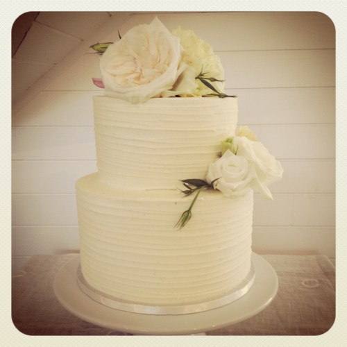 Medium Of Two Tier Wedding Cake