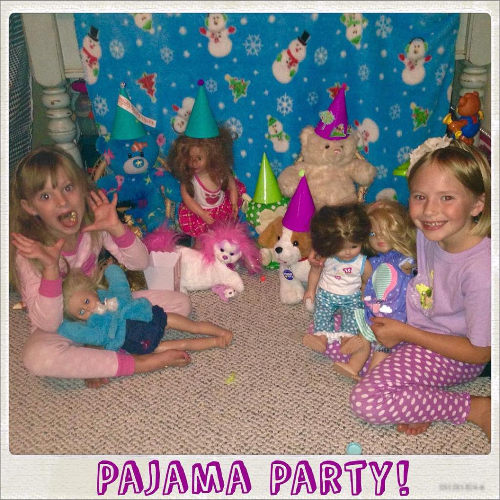 The girls decided to throw an impromptu pajama party forhellip