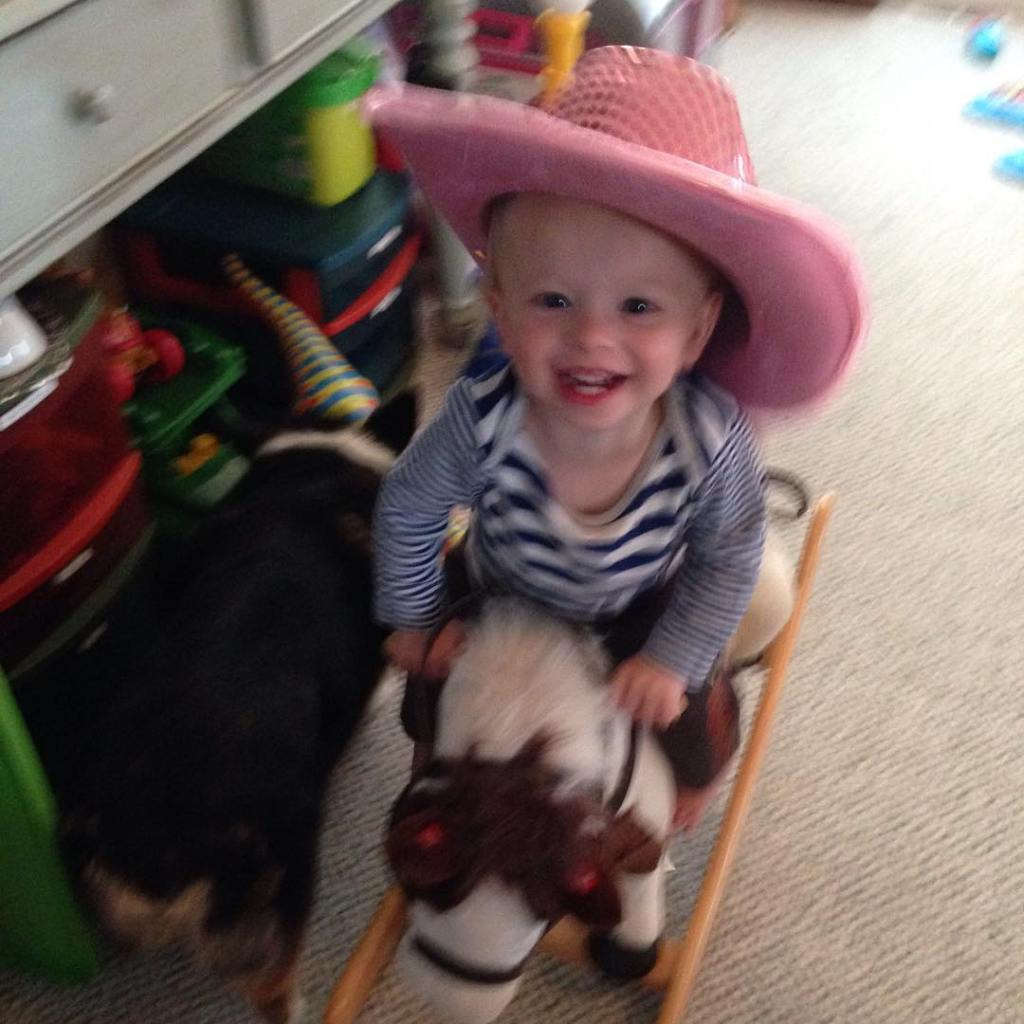 He loves his horsey!