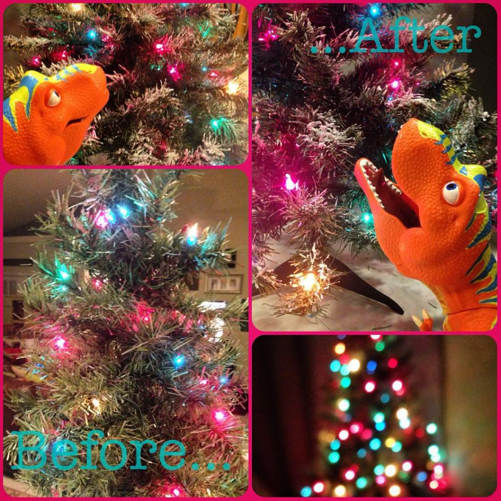 I painted Finns thrift store tree for his room withhellip