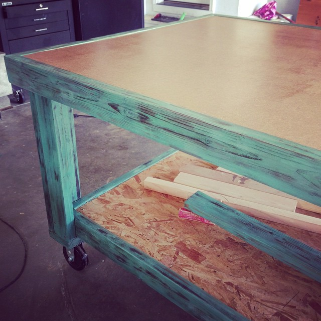 Finishing up my newest project. #workbench Hopefully my back will…