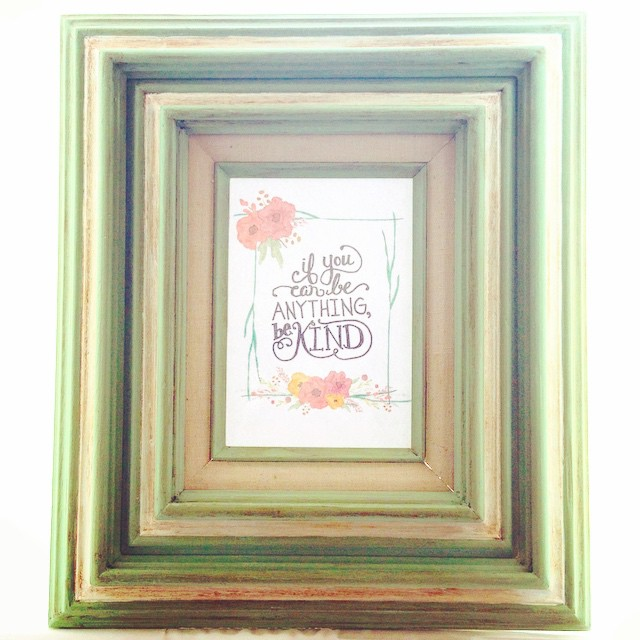 Repainted a thrifted frame and filled it with a free…