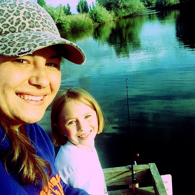 Took the girls fishing at Wilson Ponds. No fish, but…