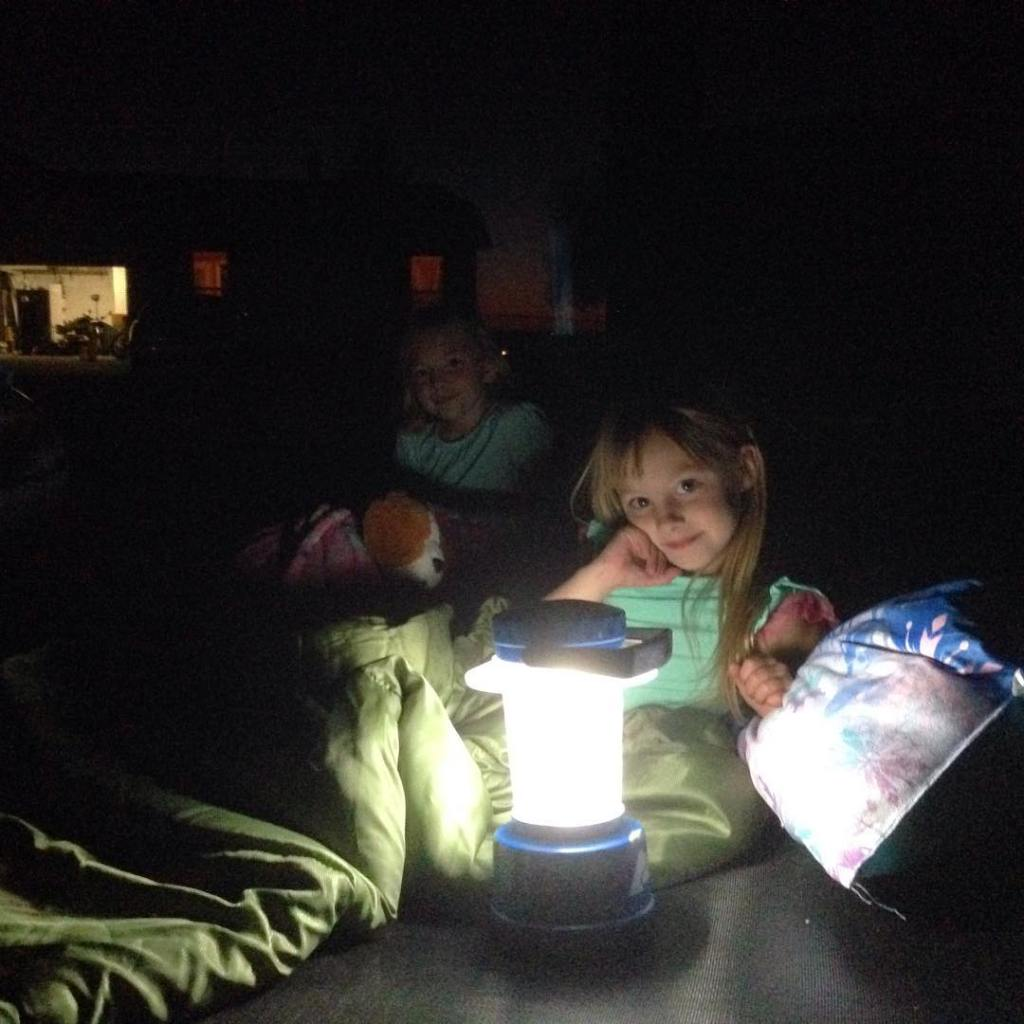 The girls are sleeping on the trampoline tonighttaking bets onhellip