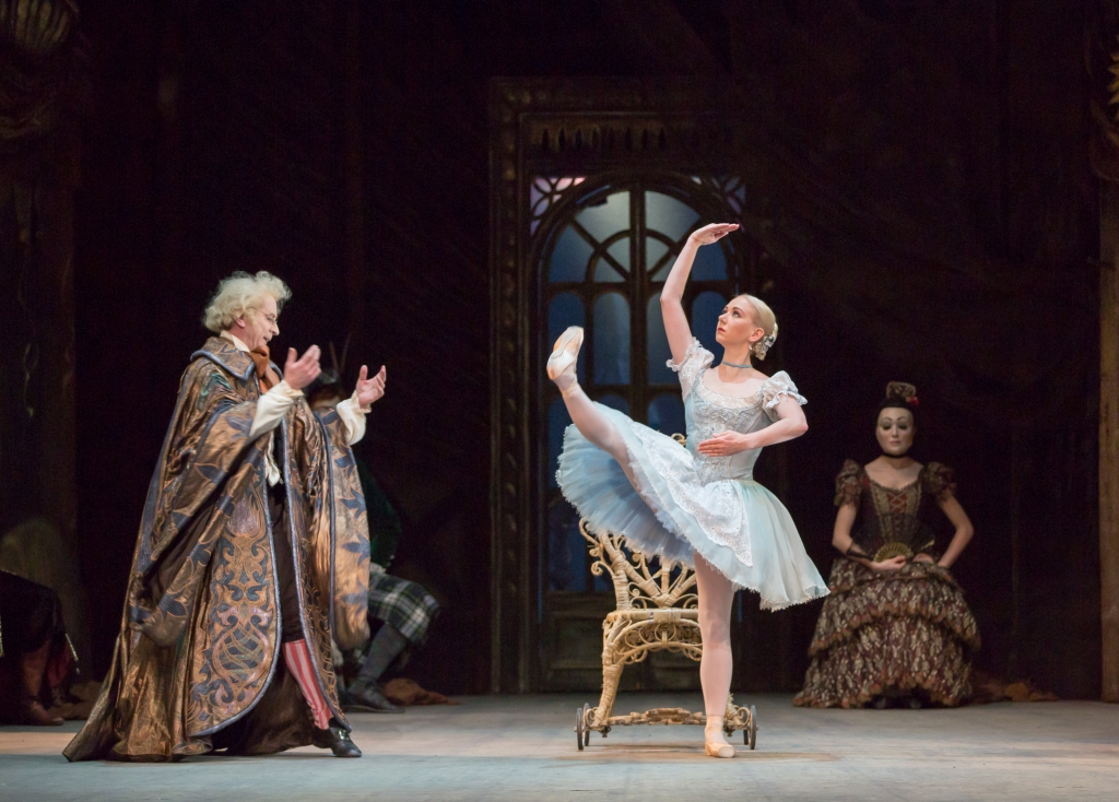 Elisha Willis as Swanilda and Michael O'Hare as Dr Coppélius / Andrew Ross