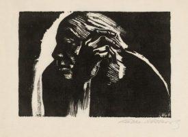Käthe Kollwitz – Self Portrait (1924) woodcut © The Trustees of the British Museum