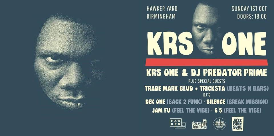 KRS-One @ Hawker Yard 01.10.19