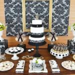 Gold & Black Damask 70th Birthday Party