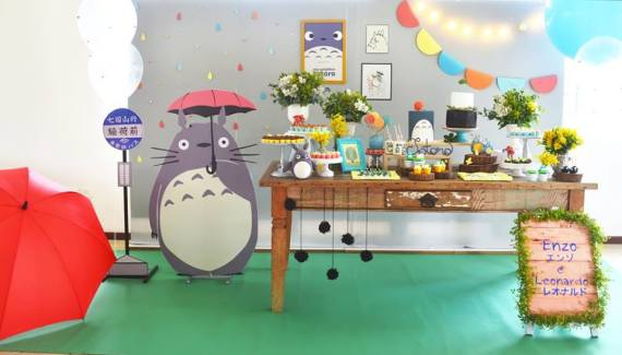 Colorful-Totoro-Birthday-Party-Dessert-Station