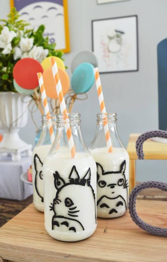 Colorful-Totoro-Birthday-Party-Milk