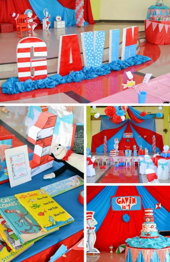 Dr Seuss First Birthday Party