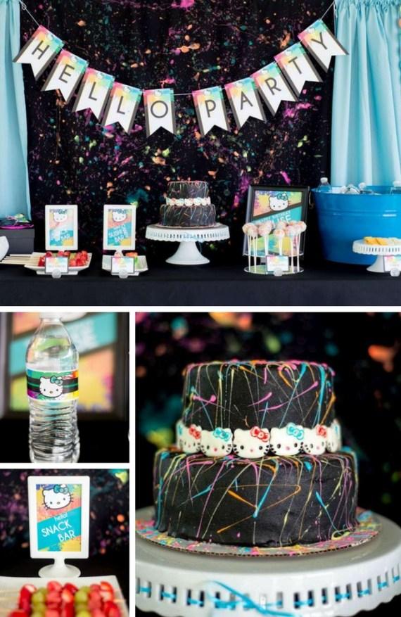Hello-Kitty-Paint-Splatter-Party