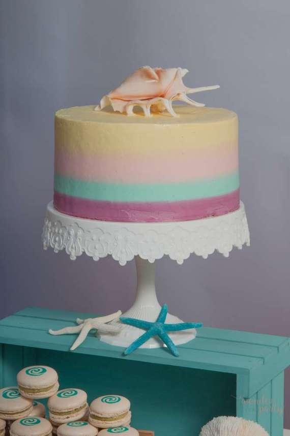 Moana-Tropical-Birthday-Party-Rainbow-Cake