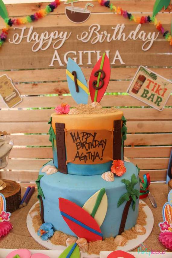 Tropical-Summer-Beach-Party-Birthday-Cake