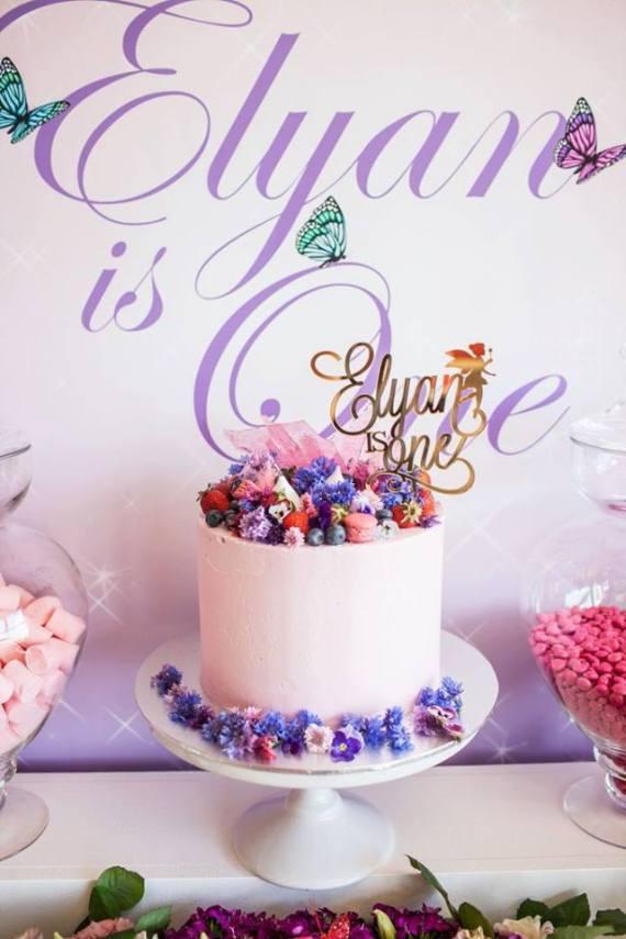 Colorful-Secret-Garden-Birthday-Party-Cake
