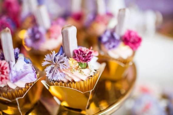 Colorful-Secret-Garden-Birthday-Party-Cupcakes