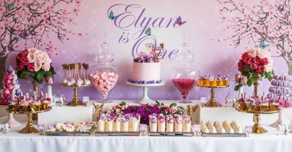 Colorful-Secret-Garden-Birthday-Party-Dessert-Table