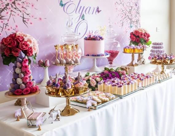 Colorful-Secret-Garden-Birthday-Party-Treat-Table