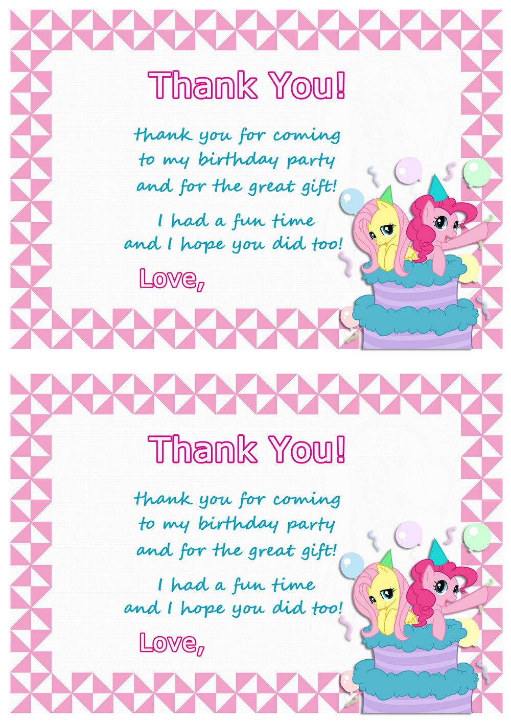Fullsize Of Birthday Thank You Cards