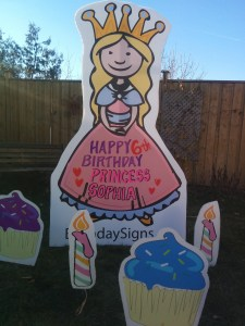 Blonde Princess Lawn Sign