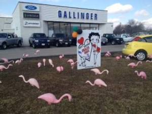 Gallinger Ford Lawn Greeting Display