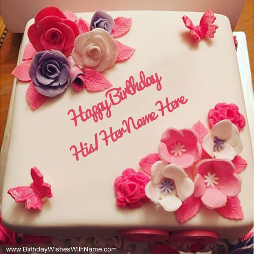 Heart Birthday Cake Images With Name Yokwallpapers Com