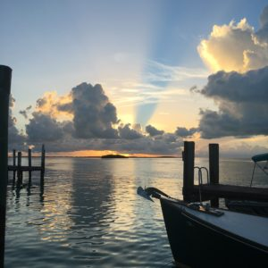 Sunset from Brown's Marina, Bimini.
