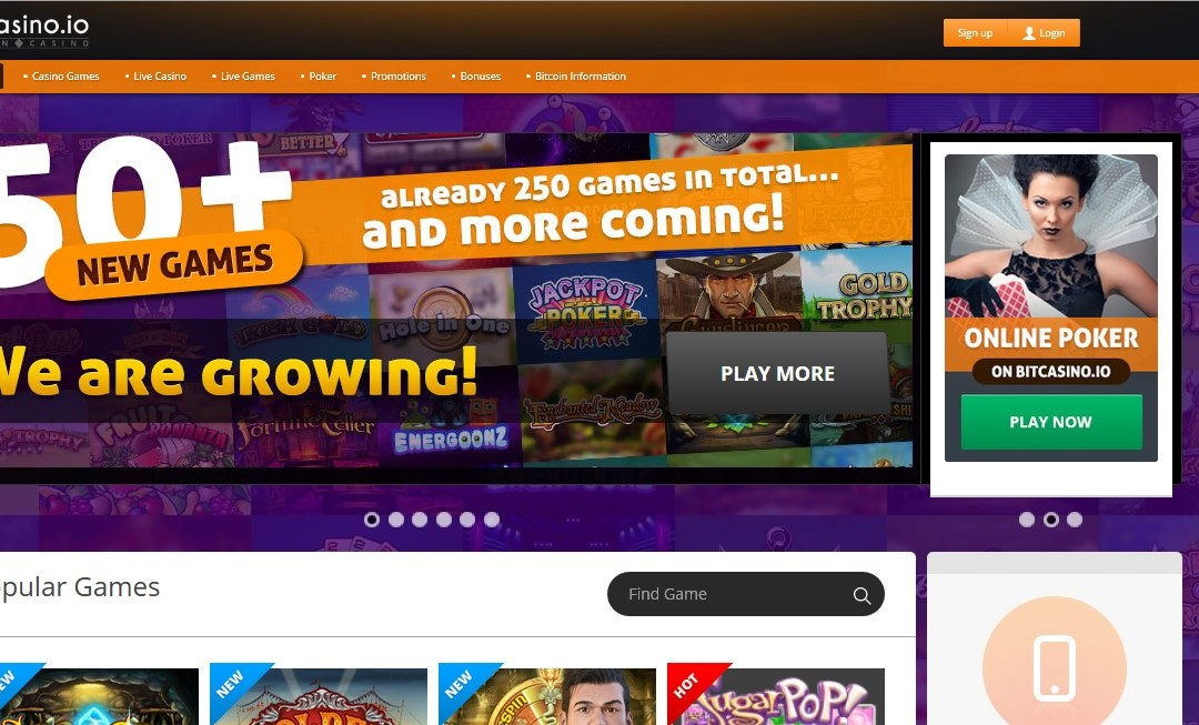 BitCasino.io Announces Partnership With Play'n GO Offering More Games Than Any Other Bitcoin Operator