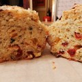 sun-dried tomato and cheddar tea bread